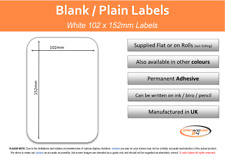 Large White Self Adhesive Sticky Labels 102mm X 152mm 4 X 6 Inches