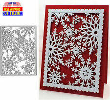 Christmas Snowflake Cutting Dies Cut Card Metal Stencil Scrapbooking Paper Craft