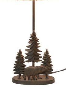 Scratch & Dent Cast Iron Bear In The Forest Table Lamp Base