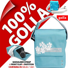 Golla Camera Case +Strap Blue for Compact Mirrorless Camera, Semi Slr, Camcorder