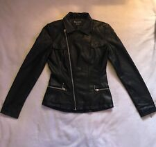 Lip Service Kill City Like Killstar Faux Leather Jacket XS Vegan Black Goth