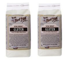 2 PACKS NEW BOB'S RED MILL VITAL WHEAT GLUTEN FLOUR MIXES FOOD GORCERIES