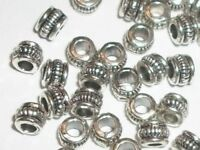 100 Antique silver pewter 4x3mm rondelle spacer beads -- 100 pieces (M8952)