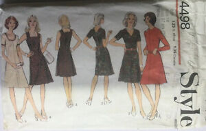 70s Style Sewing Pattern Dress With Centre Front seam & Back Zipper Size 16