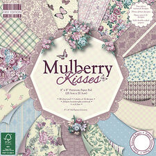 Dovecraft First Edition 8x8 Paper Pad - MULBERRY KISSES - Scrapbooking Cards