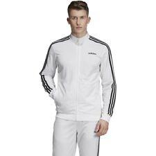 adidas Essential 3-Stripes Tricot Track Jacket-Men's Training - White
