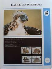 WWF Lot de feuilles 4 FDC + série OISEAU AIGLE DES PHILIPPINES Pilipinas 1991