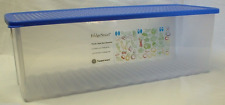 Tupperware Fridgesmart Vegetable & Fruit Container Large 19-cup Clear & Blue New