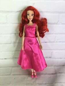 Disney Store The Little Mermaid Princess Ariel Doll Articulated Pink Dress Shoes