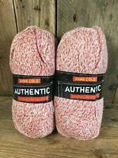 King Cole Authentic Chunky Cotton Acrylic Yarn Knitting Wool Rust