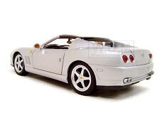 FERRARI SUPER AMERICA SILVER 1:18  DIECAST MODEL CAR BY HOTWHEELS J2873