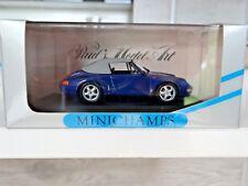 MINICHAMPS 1/43 PORSCHE 993 SOFT TOP 1994  BLAU /BLUE /BLEUE