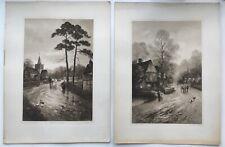 After J W Gozzard 2 19th Century Antique Prints Published by F R London