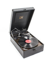 HMV gramófono Portátil Vintage Mod 102 Negro