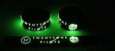 TWENTY ONE PILOTS NEW! Glow in the Dark Rubber Bracelet Wristband  GG354