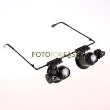 20x Magnifier Magnifying Eye Glasses Loupe Lens Jeweler Watch Repair w/LED Light
