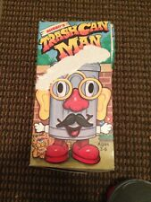 RARE NOS 1970's KUSAN'S TRASHCAN MAN COIN BANK MR POTATO HEAD STYLE GAME IN BOX