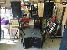 B-52 Matrix 1000 700W Amp & Sub Subwoofer 3-Piece PA Speaker Stand DJ System