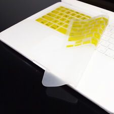 FULL YELLOW Keyboard Skin Cover Case for Macbook White 13""