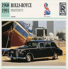 1968-1991 ROLLS ROYCE PHANTOM VI Classic Car Photograph / Information Maxi Card
