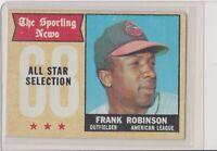1968 Topps #373 Frank Robinson Baltimore Orioles Vintage Baseball Card