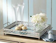 New Silver Mirror Vanity Tray Perfume Bathroom Storage Bedroom Dressing Decor