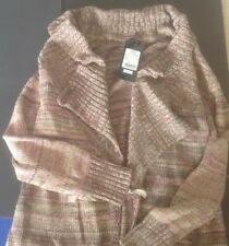NWT $1025  ESCADA Long CARDIGAN SWEATER JACKET MULTI Colored Weave L 100% COTTON