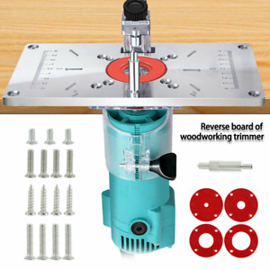 Router Table Insert Plate Woodworking Benches Aluminium Wood Router Trimmer Red