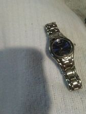 Ladies ARMITRON Silver Stainless Bracelet Watch, Blue Dial New Batt  Small Band