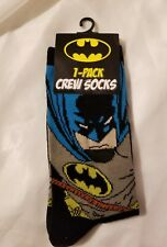 Batman Crew Socks Mens Fashion Comic Book Caped Crusader Footwear New NWT Casual