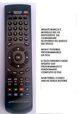 TELECOMANDO COMPATIBILE DECODER SATELLITARE  SAGEMCOM DS72SD  TIVU SAT DS 72 SD