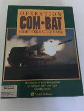 Vintage Operation Com-bat Combat PC Game Big Box IBM 1990 Excellent Condition