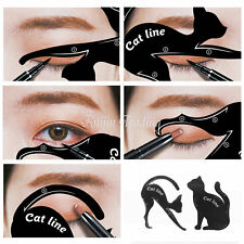 Cat Line Pro Eye Makeup Tool Eyeliner Stencils Template Shaper Model Beauty Tool
