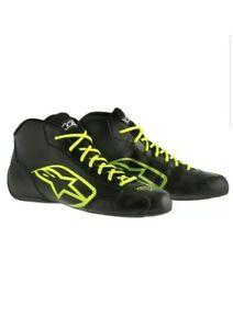 Alpinestars 2017 Tech 1K Start Driving Shoes Black/Yellow Fluorescent