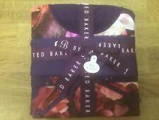 Ted Baker Purple Splendour Shorts TShirt Jersey Pyjamas Embroidered Ted Bag Sz18