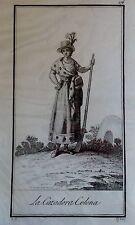 AFRICA ,CAZADORA COLONA, GRABADO ORIGINAL DE RODRÍGUEZ, 1804