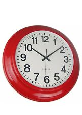 London 62cm Wall Clock RED English Round Clock Present Gift Australia Stock