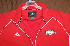 Adidas Arkansas Razorbacks Football Staff size XL ClimaProof Wind Jacket Coat