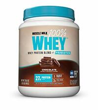Muscle Milk Whey Protein Powder with Probiotics, Chocolate, 27g Protein, 1.85lbs