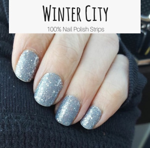 Color Street WINTER CITY (Blue Silver Glitter Winter Holiday Party)