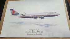 CANADIAN AIRLINES B747- 400 INAUGURAL FLIGHT VANCOUVER TO HONOLULU POSTER 15X10