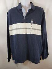 Tommy Hilfiger Men's Sweater Size L Blue Stripe Flag Logo Collar Polo NWT