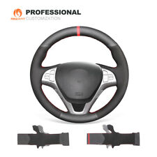 Genuine Leather Suede Car Steering Wheel Cover for Hyundai Genesis Coupe 2009