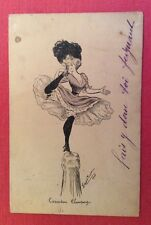 CPA. Illustrateur Georges MOUTON. 1910. Cascadeur Champagne. Danseuse. Coquin.