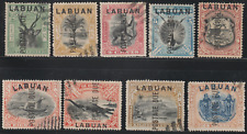 LABUAN 1901 POSTAGE DUE SET OF 9V CTO. ISC CAT RM 3800 AS POSTALLY USED
