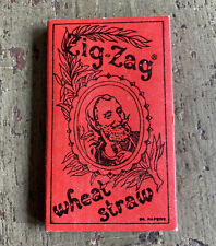New listing Vintage 1960s Zig-Zag Rolling Papers Wheat Straw Full Unused Pack Paraphernalia