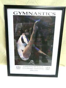 1996 USA Olympics Women's Gymnastics Framed Poster 100 Years