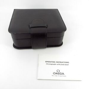 GENUINE OMEGA WATCH BOX BLACK VINTAGE SEAMASTER SPEEDMASTER