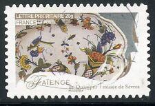 TIMBRE FRANCE AUTOADHESIF OBLITERE N° 258 / METIERS D'ARTS / FAIENCE DE QUIMPER