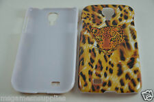 Cheetah Print with FACE Premium Hard Plastic Case for Samsung Galaxy S4 i9500